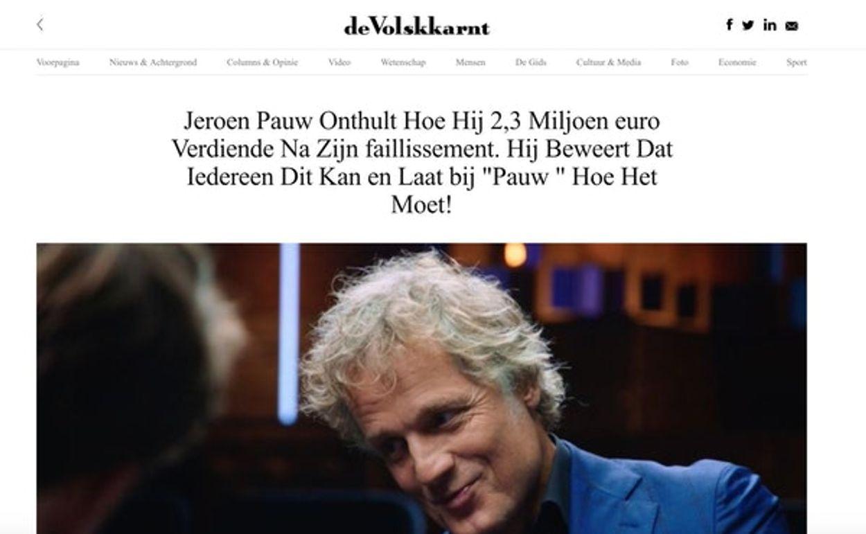 jeroen pauw NEPBERICHT bitcoin
