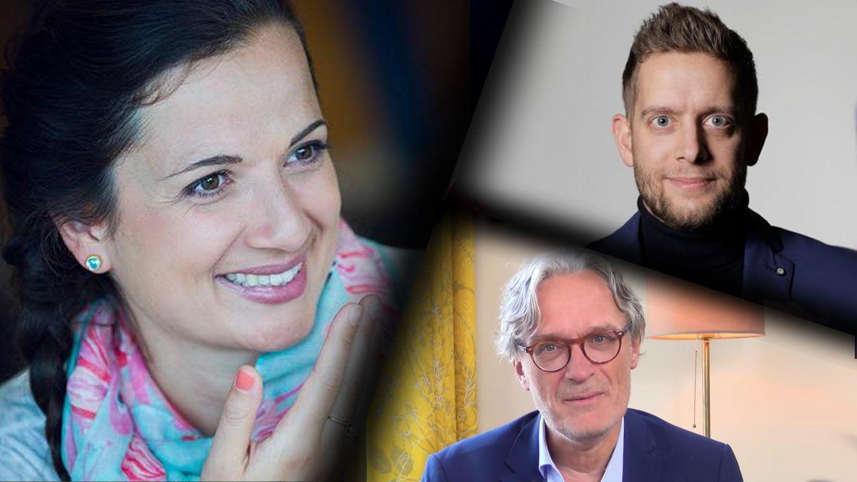 Afbeelding van Docenten Jan van de Ven, Naomi Smits en Ton van Haperen over de lerarenstaking